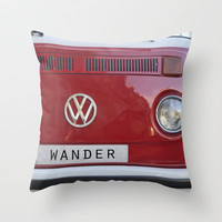 Wander wolkswagen. Summer dreams Throw Pillow by Guido Montañés