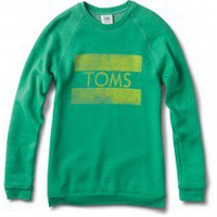 Women's Heather Green Grass TOMS Classic Crew | TOMS.com