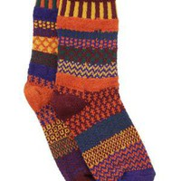 FALL FOLIAGE MISMATCHED SOCKS | Solmate Socks, Orange, Brown | UncommonGoods