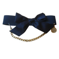 Chanel Silk Bow Belt Detachable Chain