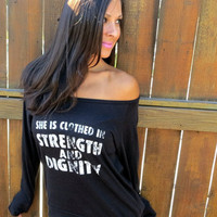 Clothed in Strength and Dignity.  by FiredaughterClothing on Etsy