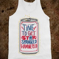 Time To Get Star Spangled Hammered Fourth Of July Party Tank