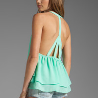 Show Me Your Mumu Squirrel Top in Neon Mint from REVOLVEclothing.com
