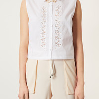 Cotton Embroidered Shirt - Tops - Sale - Sale & Offers - Topshop USA