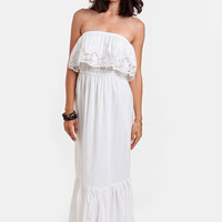 Shipwrecked Strapless Maxi Dress