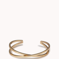 Abstract Twisted Cutout Cuff
