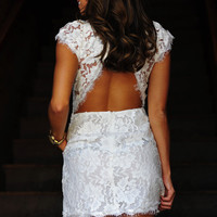 RESTOCK: Kiss The Bride Dress: White Lace | Hope's