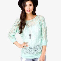Banded Lace Top