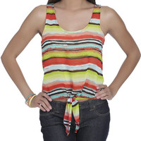 Tribal Tie Front Tank | Shop Tribal at Wet Seal