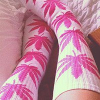 HUF White & Pink Socks Plantlife from Dopefash