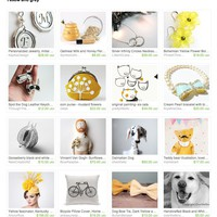 Yellow and grey by PopArtPortraits on Etsy