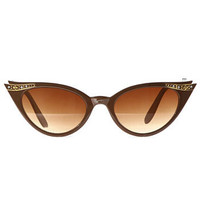 Luella Sunglasses in Coffee