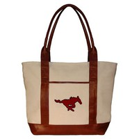 Collegiate Needlepoint Tote, SMU