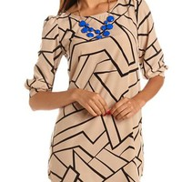 Geo Print Shift Dress: Charlotte Russe