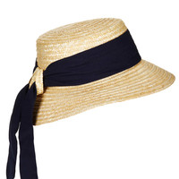 Structured Ribbon Boater Hat - New In This Week - New In - Topshop