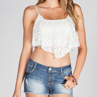FULL TILT Crochet Womens Crop Top