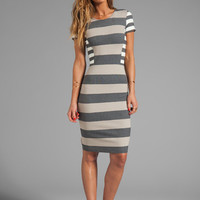 10 CROSBY DEREK LAM RUNWAY Short Sleeve Dress in Combo Stripe from REVOLVEclothing.com