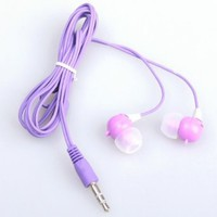 Purple Cute Rabbit 3.5mm Earphone In-ear Headphone Earbud For iPhone