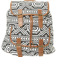Black and White Tribal Backpack | Shop Tribal at Wet Seal
