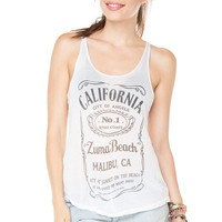 Brandy ♥ Melville |  Kay Zuma Beach Tank - Graphic Tops - Clothing