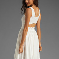 bless'ed are the meek Python Dress in Ivory from REVOLVEclothing.com