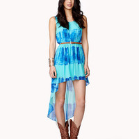 Tie-Dye High-Low Dress | FOREVER 21 - 2041952871