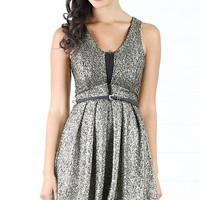 JD1561 Shimmery Skater Dress and Shop Apparel at MakeMeChic.com