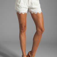 Haute Hippie Lace Short in Swan from REVOLVEclothing.com