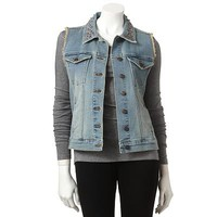 Rock and Republic Embellished Denim Vest