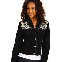 Scully Embroidered Fringe Suede Jacket