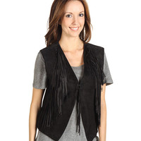 Scully Ladies Soft Suede Fringe Vest