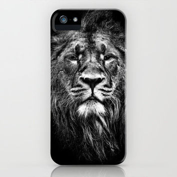 male asiatic lion iPhone & iPod Case by Meirion Matthias