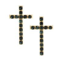 ASOS Stone Cross Stud Earrings