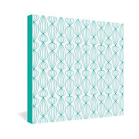 DENY Designs Home Accessories | Gabi Lanterns Aqua 1 Gallery Wrapped Canvas