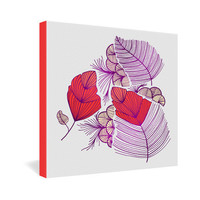 DENY Designs Home Accessories | Gabi Sea Leaves Gallery Wrapped Canvas
