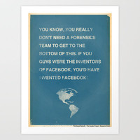 The Social Network Art Print by The Quotes Project