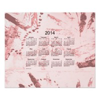 Old Pink Paint 2014 Wall Calendar from Zazzle.com
