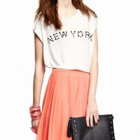 NEW YORK Print White T-shirt