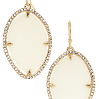 Ivory Epoxy Bezel Set Drop Earrings | Fiona Earrings | Stella & Dot