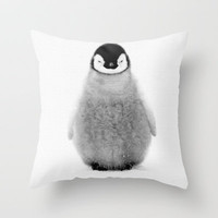 PENGUIN Throw Pillow by Ylenia Pizzetti