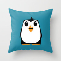 Penguin Throw Pillow by Adam Dorman