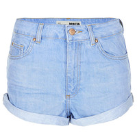 MOTO Blue High Waisted Hotpant - Denim Shorts - Shorts - Clothing - Topshop USA