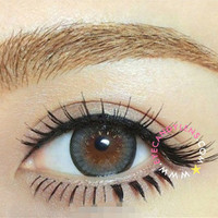 GEO Mari Gold Grey Circle Lenses Colored Contacts Cosmetic Color Circle Lens | EyeCandy's
