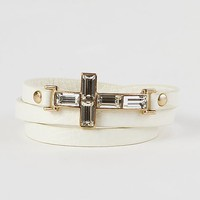 BKE Rhinestone Cross Bracelet - Women's Accessories | Buckle