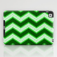 Chevron Doodle iPad Case by Alice Gosling