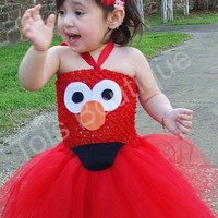 Toddler- Elmo Inspired Tutu Dress