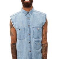 10 Deep The Bebop Sleeveless Buttondown Shirt in Light Indigo : Karmaloop.com - Global Concrete Culture