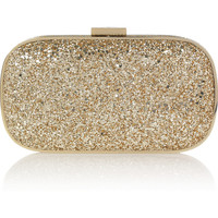 Anya Hindmarch | Marano glitter-finished box clutch | NET-A-PORTER.COM