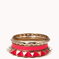 Spiked Bangle Set