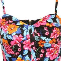 Multi Color Floral Bralet Top
